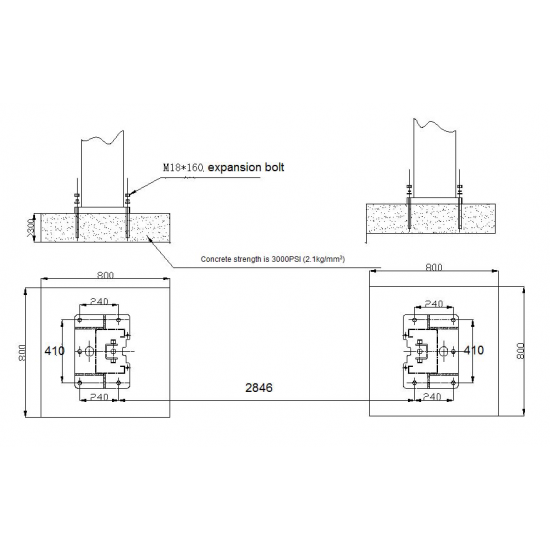 Kahesambaline (kahepostiline) hüdrotõstuk AMD SA 40 new