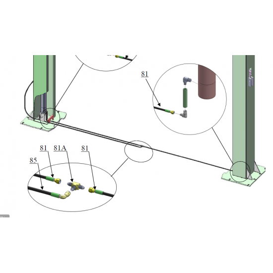 Kahesambaline (kahe posti) hüdrauliline autotõstuk AMGO A 240